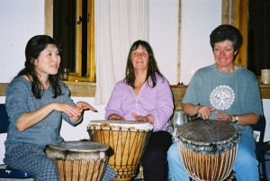 Women drumming