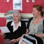 Staff & residents sing together