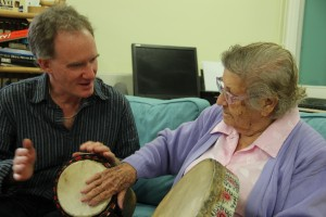 Older people drumming