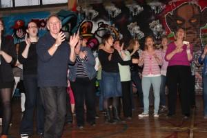Vocality community choir rehearsal